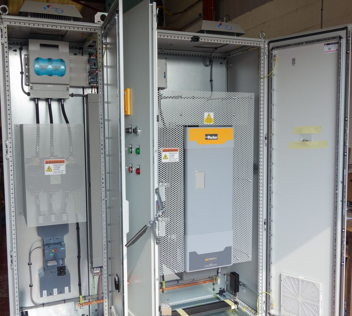 180kW Parker drives for extruder applications